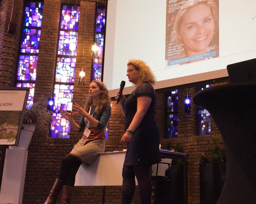 Landelijke Olijfcongresdag interview tussen Nienke Dekkinga en Judith Kamminga